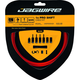 Jagwire 1X Pro Shift Set de câble de dérailleur, orange